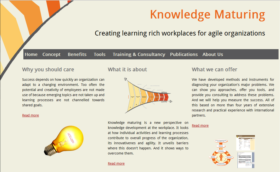 Knowledge Maturing Website Screenshot
